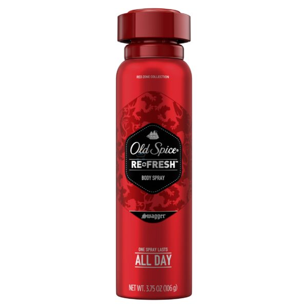 Old Spice Red Zone Swagger Scent Body Spray for Men, 3.75 oz
