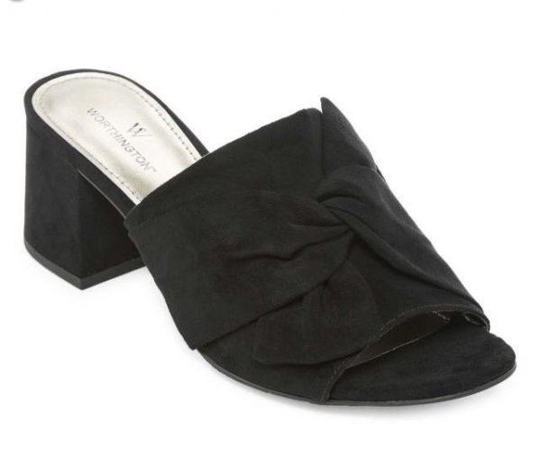Worthington Womens Freemont Mules Slip on Open Toe e1603716895146 | Jsobs